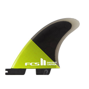 FCS Carver PC Quad Rear Fin Set-Acid/Black-Medium