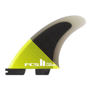 FCS Carver PC Tri Fin Set-Acid/Black-Large