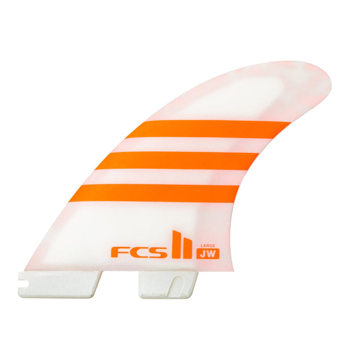 FCS II JW Aircore Tri Fin Set-Orange/White-Large