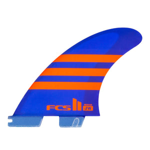 FCS II JW Aircore Tri Fin Set-Orange/Blue-Medium