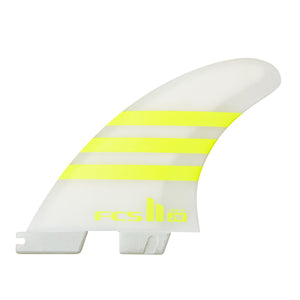 FCS II JW Aircore Tri Fin Set-Acid/White-Medium