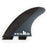 FCS II MF Neo Carbon Tri Fin Set-Black/White-Large