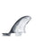 FCS II MR PC Twin + Stabilizer Fin Set-X-Large-Black