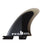 FCS Reactor PC Quad Rear Fin Set-Charcoal/Black-Medium