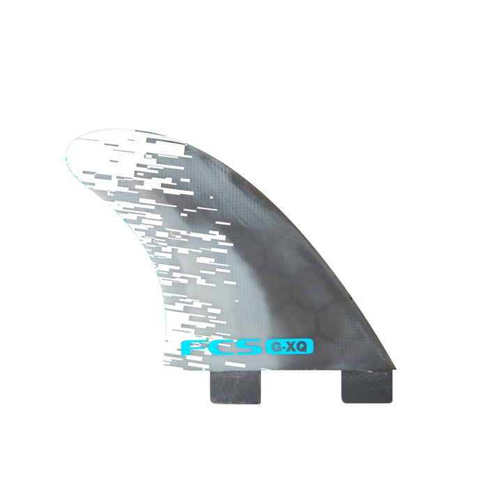 FCS G-XQ PC Quad Rear Fin Set-Blue Smoke