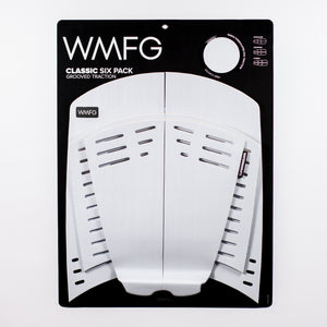 WMFG Classic 3.0 Six Pack Grooved Traction Pad-White