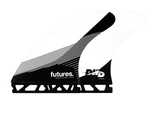 Futures DHD Honeycomb Tri Fin Set-White/Black-Large