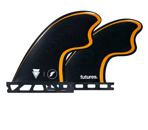 Futures Tomo Control Series Quad Fin Set-Black/Orange