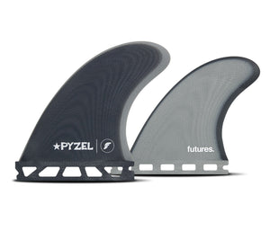 Futures Pyzel Padillac Fiberglass Quad Fin Set-Blue/Grey