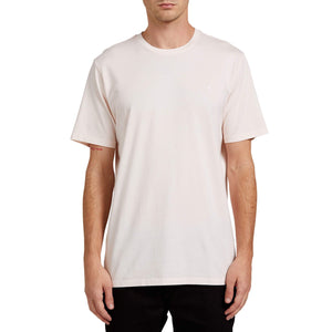 Volcom Solid Stone Emb Tee-Salty Pink