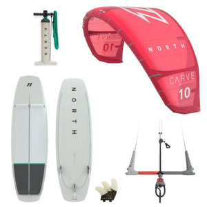 REAL Complete North Kite Package-Carve 9m & Comp 5'2""
