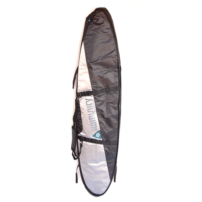 Komunity Triple Quad Armor Boardbag-Blk/Grey/Sil-7'6""