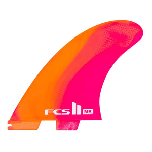 FCS II MR PC Twin + Stabilizer Fin Set-X-Large-Neon Swirl