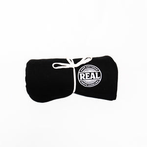 "REAL Fan Badge 6'6"" Stadium Blanket-Black"
