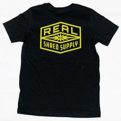 REAL Youth Shred Supply Tee-Black