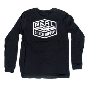 REAL Shred Supply L/S Tee-Dark Grey