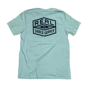 REAL Shred Supply Tee-Dusty Blue