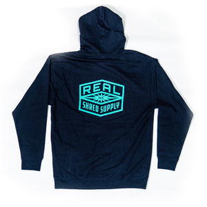 REAL Shred Supply Hooded Sweatshirt-Navy