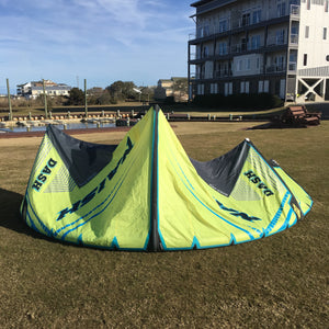 USED 2017/18 Naish Dash Kite-8m-Yellow/Grey