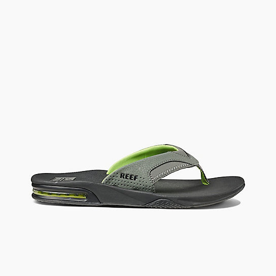 bbe4f97c11a Reef Fanning Sandal-Black Green — REAL Watersports