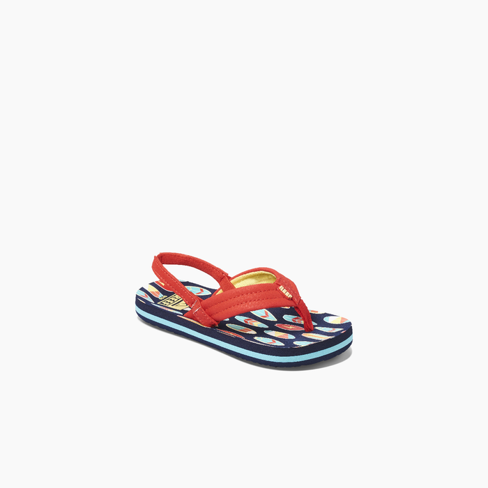 Reef Little Ahi Sandal-Red Surfer