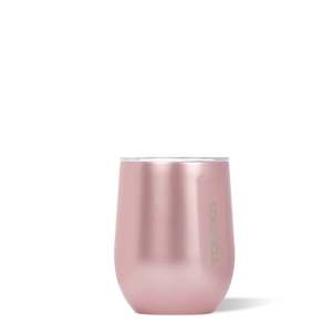 Corkcicle 12 oz Stemless-Rose Metallic