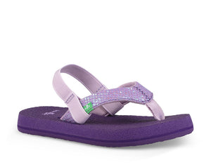 Sanuk Yoga Gillter Kids' Sandal-Purple
