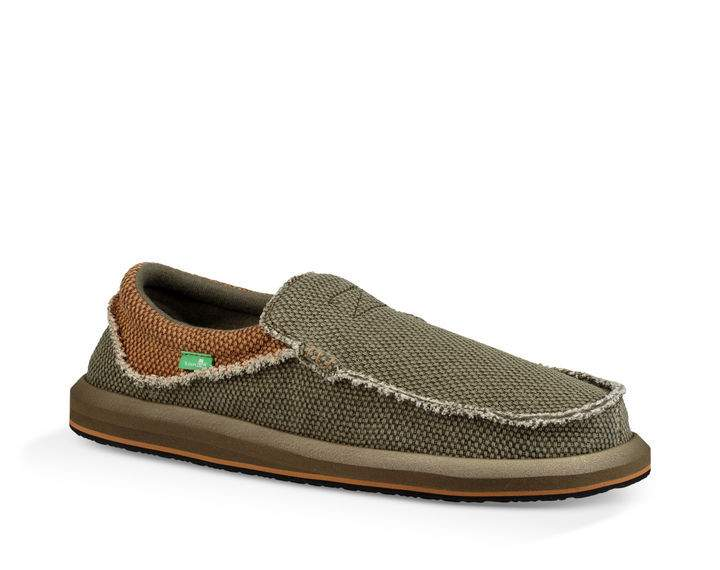 Sanuk Chiba Shoe-Army Green/Brown