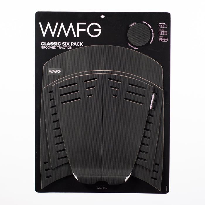 WMFG Classic 3.0 Six Pack Grooved Traction Pad-Black
