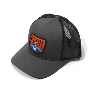 REAL Lighthouse Badge Hat-Charcoal/Black