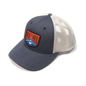 REAL Lighthouse Badge Hat-Heather Navy/Light Grey