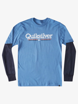 Quiksilver Tropical Lines Youth L/S Tee-Blue Yonder