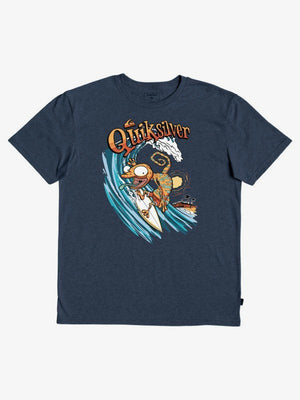 Quiksilver Break The Fall Boy Tee-Navy Blazer Heather