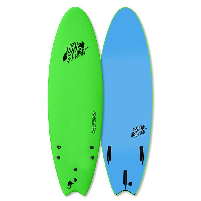 "Wave Bandit Performer Soft Top 6'6""-Green"