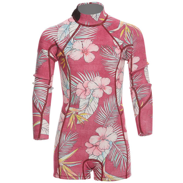 Billabong Girls Spring Fever L/S Springsuit-Sangria