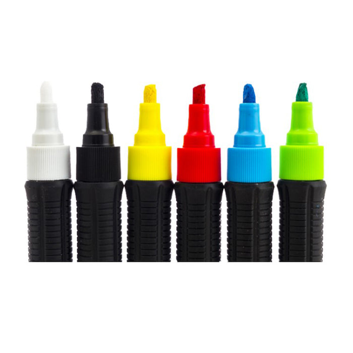 Boardstix Grip Pen with Reversible Tip-6 Pack