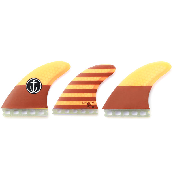 Captain Fin CF Futures Tri Fin Set-Large-Orange