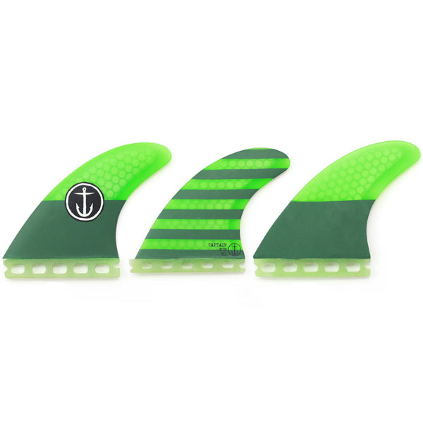 Captain Fin CF Futures Tri/Quad Fin Set-Medium-Green