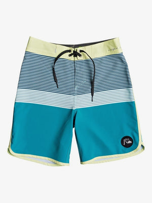Quiksilver Tijuana Youth 17 Boardshorts-Caribbean Sea
