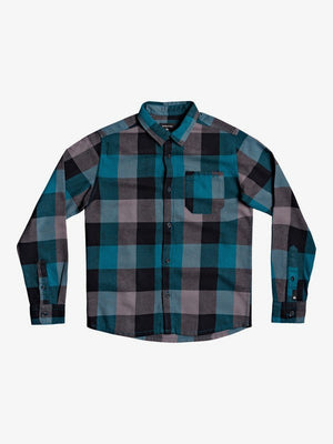 Quiksilver Motherly Flannel Youth L/S Shirt-Blue Coral