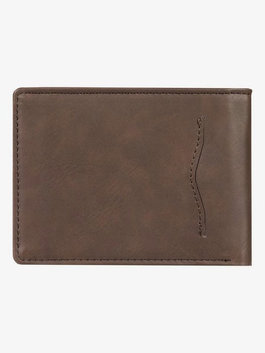 Quiksilver Slim Vintage IV Wallet-Chocolate Brown