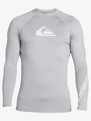 Quiksilver All Time L/S Rashguard-Sleet Heather