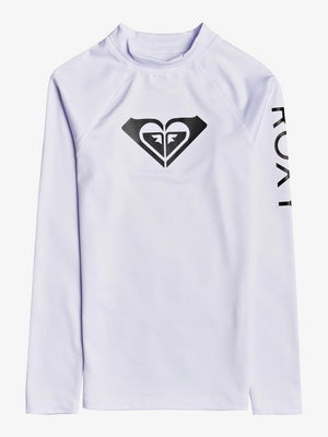 Roxy Whole Hearted L/S Rashguard-White