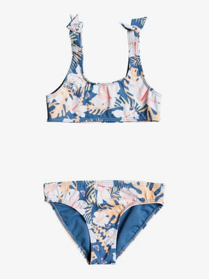 Roxy Swim Lovers Bralette Bikini-Moonlight Blue