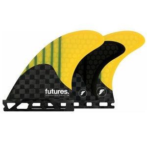 Futures F4 Generation  Tri/Quad Fin Set-Yellow-Small