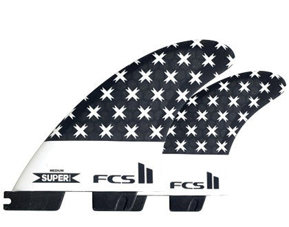 FCS II SUPERbrand PC Tri/Quad Fin Set-Medium