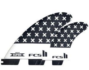FCS II SUPERbrand PC Tri/Quad Fin Set-Large