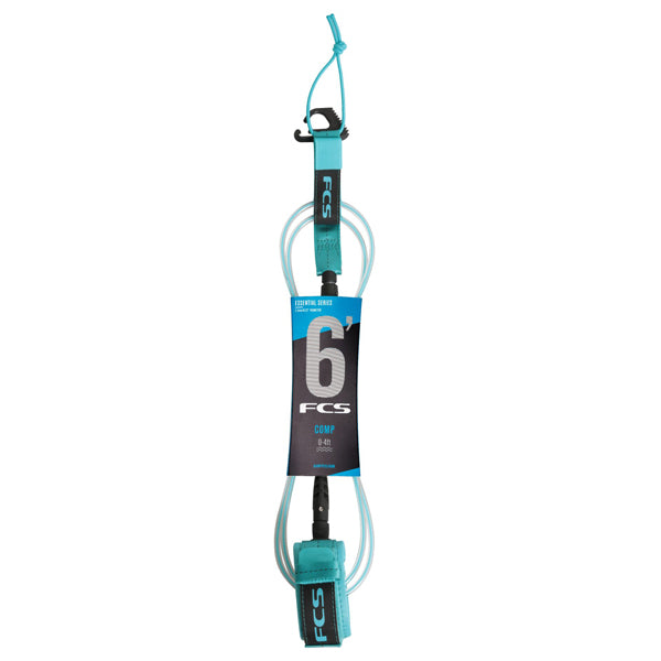 FCS Comp Essential Leash-6' x 5.5mm-Blue