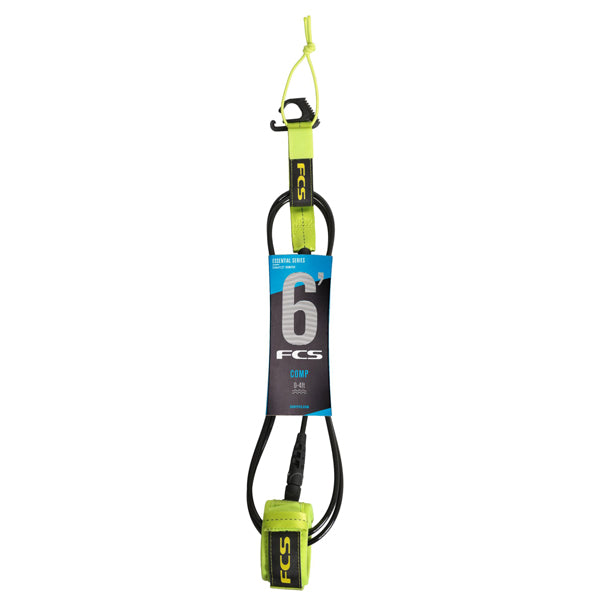 FCS Comp Essential Leash-6' x 5.5mm-Fluro Green