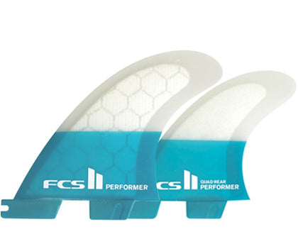 FCS II Performer PC Quad Fin Set-Teal-Medium